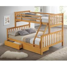 Maxi Beech Finished Hardwood Triple Sleeper Bunk Bed with Storage Drawers | Bunk Beds (by Interiors2suitu.co.uk)