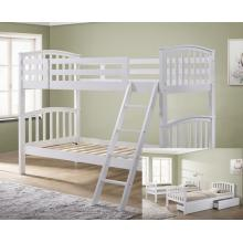 Barbican White Hardwood Finished Single Bunk Bed with Storage Drawers   Bunk Beds (by Interiors2suitu.co.uk)
