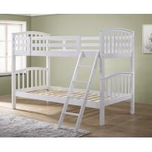 Barbican White Hardwood Finished Single Bunk Bed | Bunk Beds (by Interiors2suitu.co.uk)