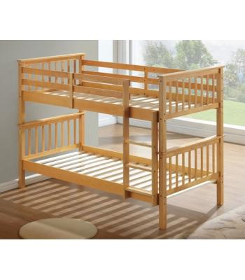 Calder Beech Finished Hardwood Bunk Bed