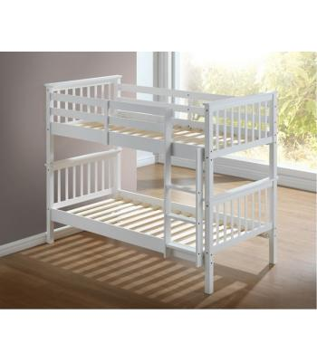 Calder White Finished Hardwood Bunk Bed