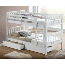 Calder White Finished Hardwood Bunk Bed with Storage Drawers | Bunk Beds (by Interiors2suitu.co.uk)