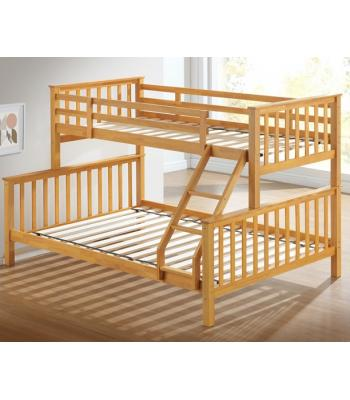 Maxi Beech Finished Hardwood Triple Sleeper Bunk Bed