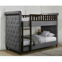 Rio Dark Grey Linen Chesterfield Bunk Bed | Bunk Beds (by Interiors2suitu.co.uk)