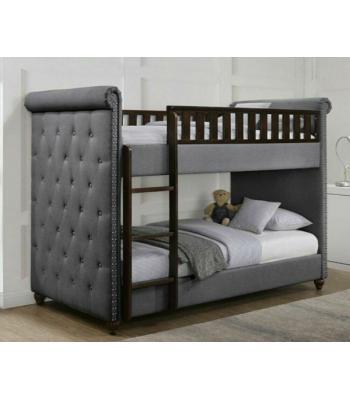 Rio Dark Grey Linen Chesterfield Bunk Bed