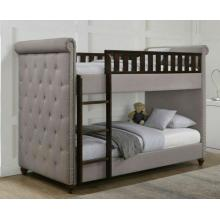 Rio Light Grey Linen Chesterfield Bunk Bed | Bunk Beds (by Interiors2suitu.co.uk)