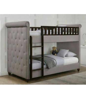 Rio Light Grey Linen Chesterfield Bunk Bed