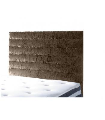 Harrogate Crushed Velvet Horizontal Panelled Floor Standing Headboard