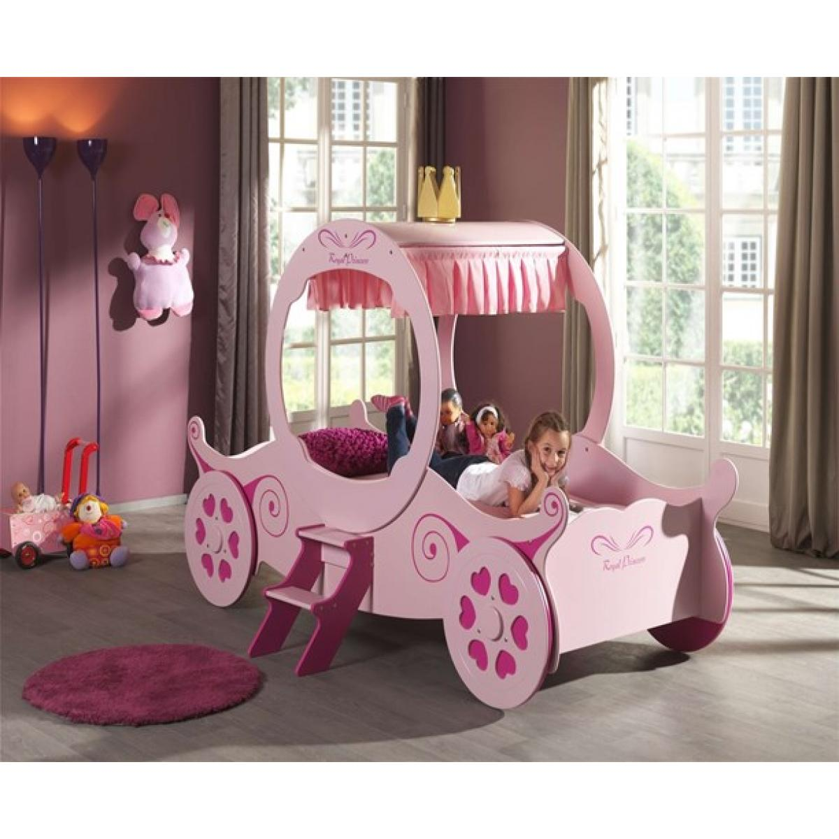 Picture of: Girls Princess Pink Carriage Bed