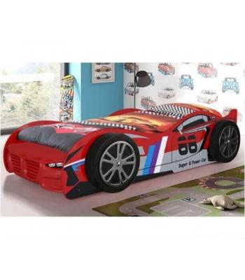 Kids No 88 Red Turbo Racing Car Novelty Bed
