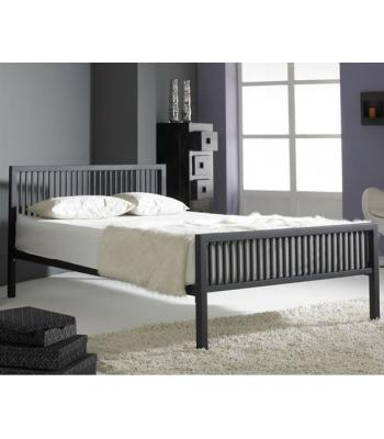 Boston/ Rodger Black Finished Modern Metal Bedstead