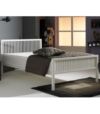 Boston/ Rodger White Finished Modern Metal Bedstead