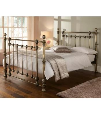 Cairncry Antique Brass Effect Metal Bed Frame