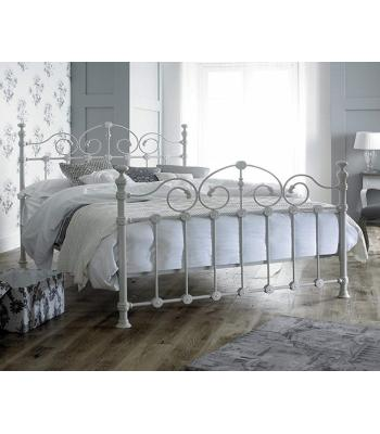 Louisiana White Ornate Metal Bed Frame