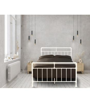 Nightingale Industrial White Scaffold Metal Bed Frame