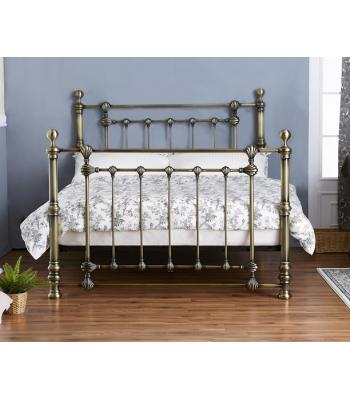Victoria Antique Brass Effect Bed Frame