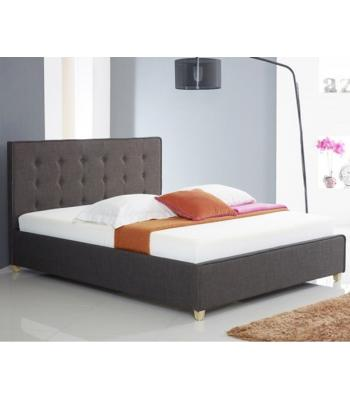 Annabelle Modern Charcoal Fabric  Button Bed