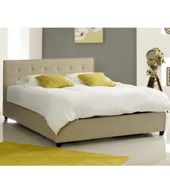 Annabelle Modern Stone Fabric  Button Bed