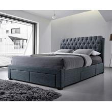 Alexander Dark Grey Fabric 4 Drawer Modern Storage Bed   Storage Beds (by Interiors2suitu.co.uk)