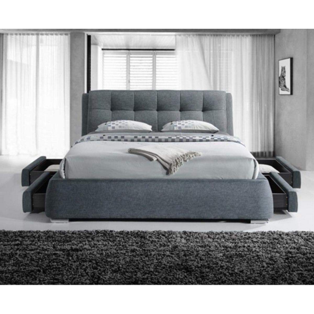 separation shoes ad3ff d2e29 Regent Dark Grey Fabric 4 Drawer Modern Storage Bed