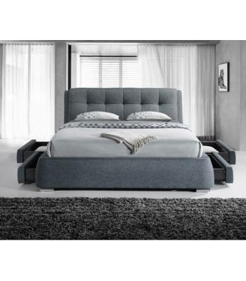 Regent Dark Grey Fabric 4 Drawer Modern Storage Bed